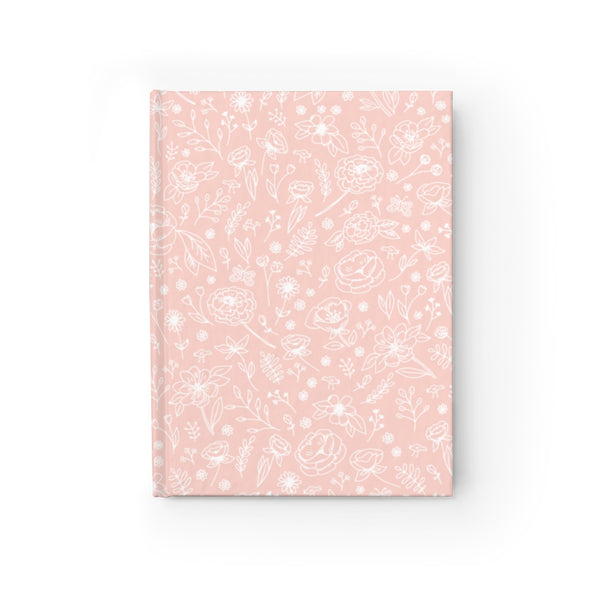 Spring Flower Hard Cover Journal - Peach