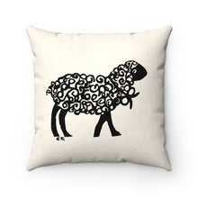 Little Sheep Faux Suede Pillow