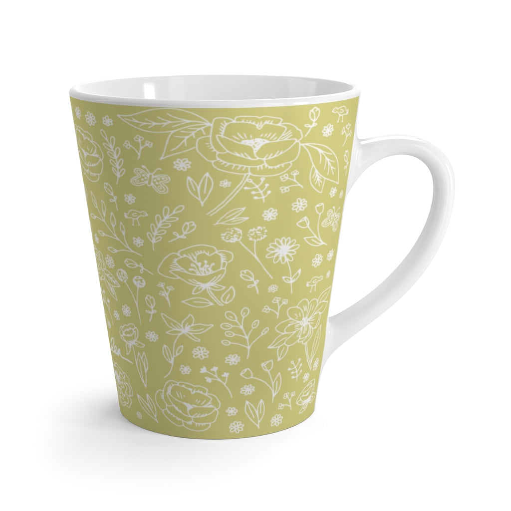 Spring Flower Latte Mug - Lime