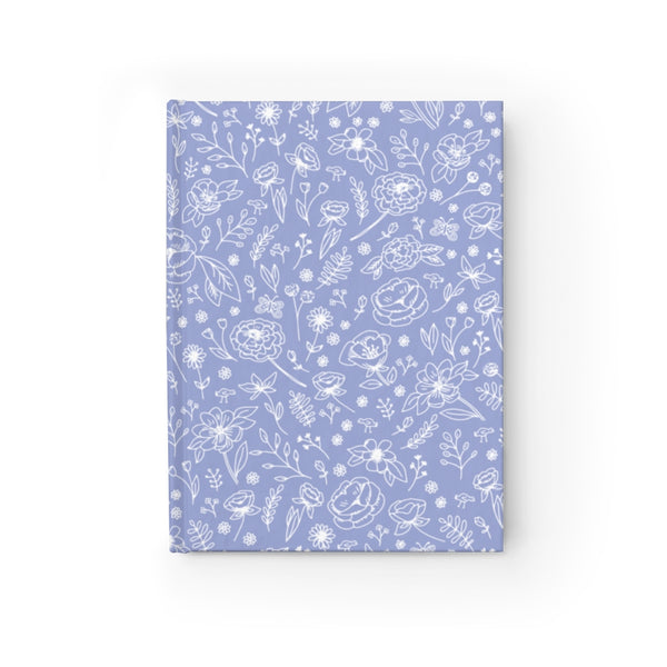 Spring Flower Hard Cover Journal - Cornflower Blue