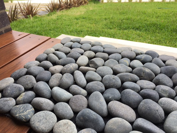 Pebble Doormat Stream Charcoal