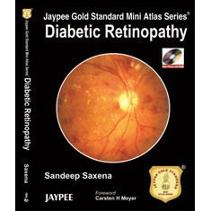 DIABETIC RETINOPATHY JAYPEE GOLD STANDARD MINI ATLAS WITH DVD ROM -Saxena-jayppe-UNIVERSAL BOOKS