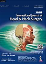 INTERNATIONAL JOURNAL OF HEAD AND NECK SURGERY-UNIVERSAL 30.04-UNIVERSAL BOOKS-UNIVERSAL BOOKS