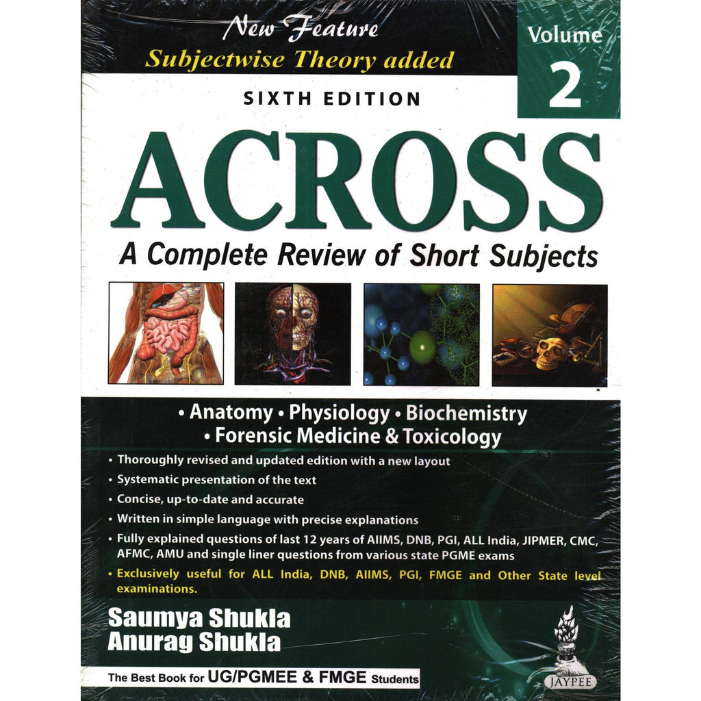 ACROSS: A COMPLETE REVIEW OF SHORT SUBJECTS (Vol - 2) 6/E -Shukla-UB-2017-jayppe-UNIVERSAL BOOKS