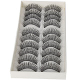 GS10003- 10 PAIRS OF REUSABLE FALSE EYELASHES