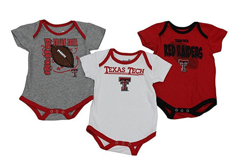 GS0237-Infant Texas Tech Red Raiders 3 Pack Creeper Body Set