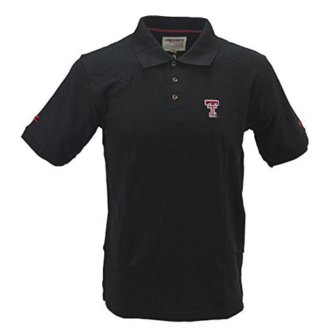 GS0243-Pressbox Men's Texas Tech Red Raiders Black Polo Shirt