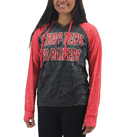 GS0250-Pressbox Women' s Texas Tech Red Raiders Grey/Red Sweatshirt