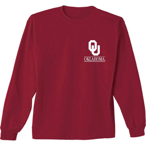 GS0293-NCAA Barn Long Sleeve Tee- UNIVERSITY OF OKLAHOMA