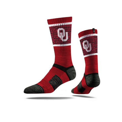 GS0296-Strideline NCAA Premium Athletic Crew Socks -UNIVERSITY OF OKLAHOMA