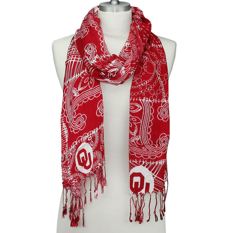 GS0297-Oklahoma Mixed Print Scarf