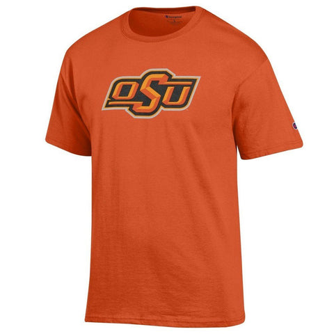 GS0352-NCAA Men's Team Color Short Sleeve T-Shirt -OKLAHOMA STATE UNIVERSITY