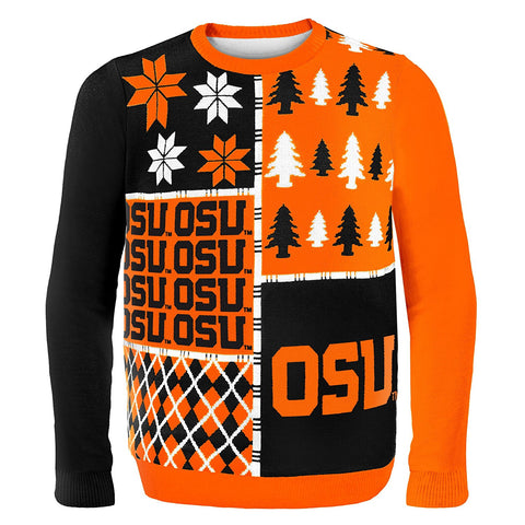 GS0355-NCAA Busy Block Sweater -OKLAHOMA STATE UNIVERSITY