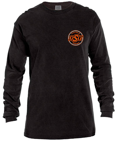 GS0356-NCAA Rounds Long Sleeve Comfort Color Tee-OKLAHOMA STATE UNIVERSITY