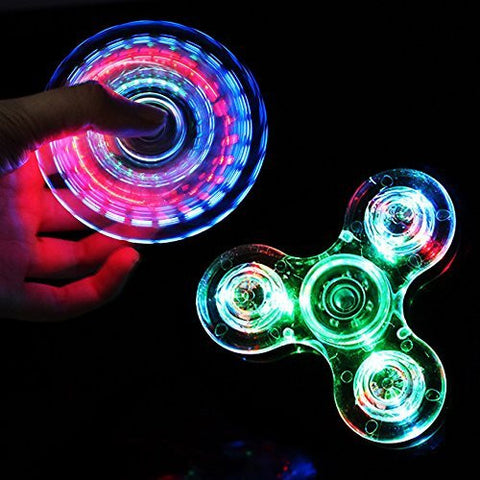 GS4000009-RUVINCE Tri-Spinner LED Fidget Spinner Toy Colorful Lighting Effects