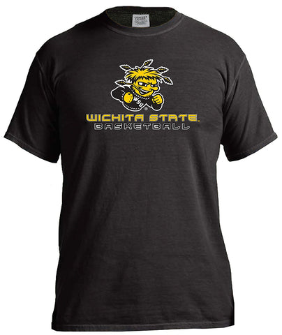 GS0423-NCAA Basketball Energy Short Sleeve Comfort Color Tee -WSU