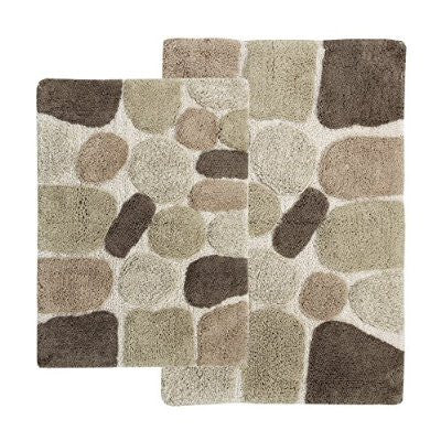 GS2154-2 PC Pebbles Bath Rug Set