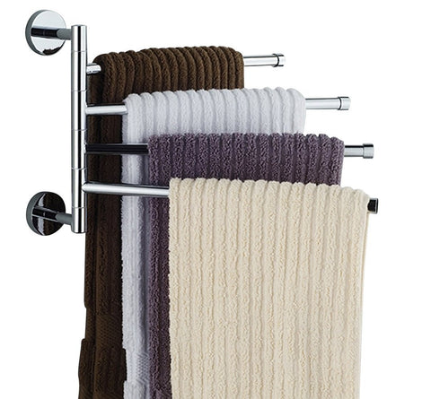 GS2069-16 inch Wall-Mounted Stainless Steel Swivel Bars Bathroom Towel Rack