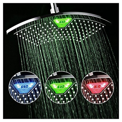 "GS2191-12"" ALL CHROM RAINFALL COLOR CHANGING LED SHOWER HEAD"
