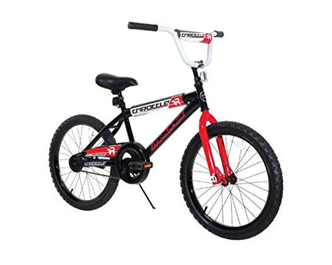 GS3000014-Dynacraft 8109-34ZTJ Boys Throttle Magna Bike, Black/Red/White, 20""