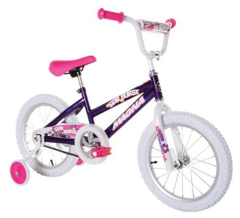 GS3000027-Dynacraft Magna Starburst Girl's Bike (16-Inch, Purple/White/Pink)