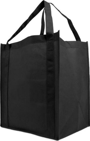 GS50004-Reusable Reinforced Handle Grocery Tote Bag Large 10 Pack