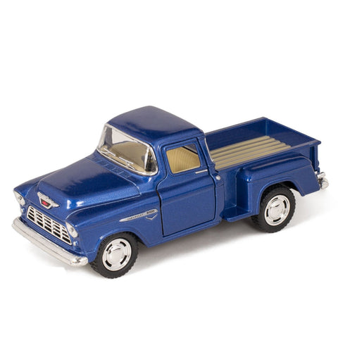 GS6001-1955 Chevy Step side Pick-Up Die Cast Collectible Toy Truck, Blue