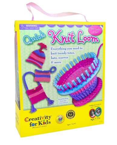 GS6058- Creativity for Kids Quick Knit Loom – Teaches Beneficial Skills and Creativity – Easy to Use – For Ages 7 and Up