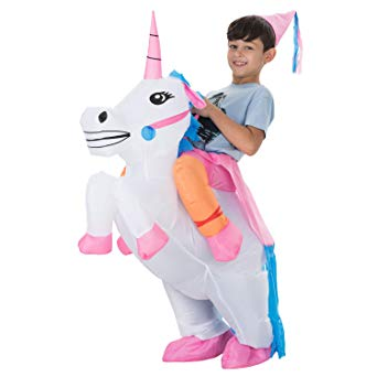 GSHALLO002-INFLATABLE UNICORN RIDER COSTUME