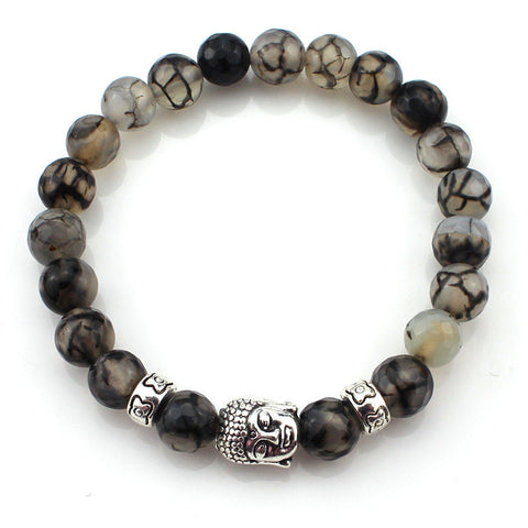 (3 pcs/lot) Natural Stone Buddha Bracelets
