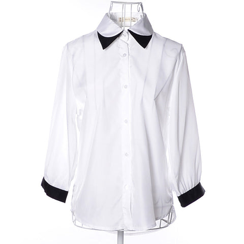 Women T-Shirt Double-layer Collar Drop