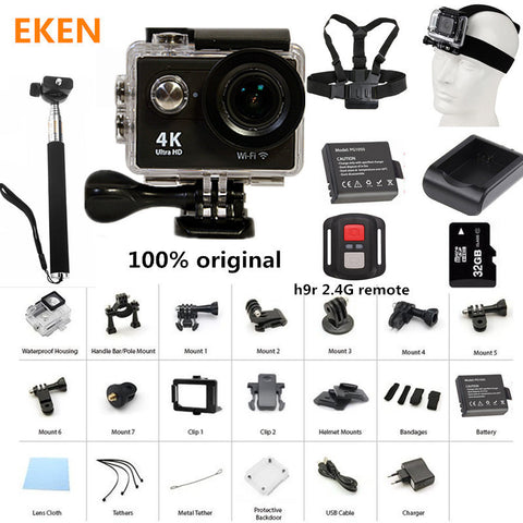 Action Camera 100% Original Eken H9/H9R Ultra HD 4K 30M waterproof