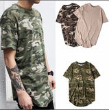 Camouflage Striped oversized extended t shirt