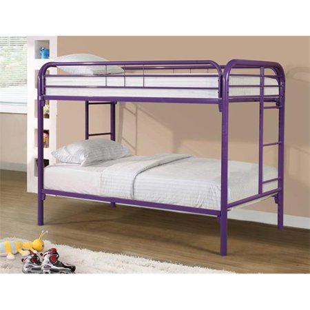 Donco Twin/Twin Metal Bunk Bed - Purple-Donco-Sleeping Giant