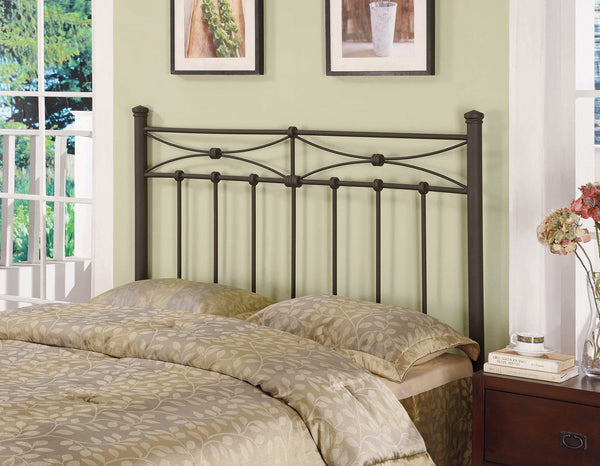 Coaster Traditional Rustic Bronze Metal Headboard-Coaster-Sleeping Giant