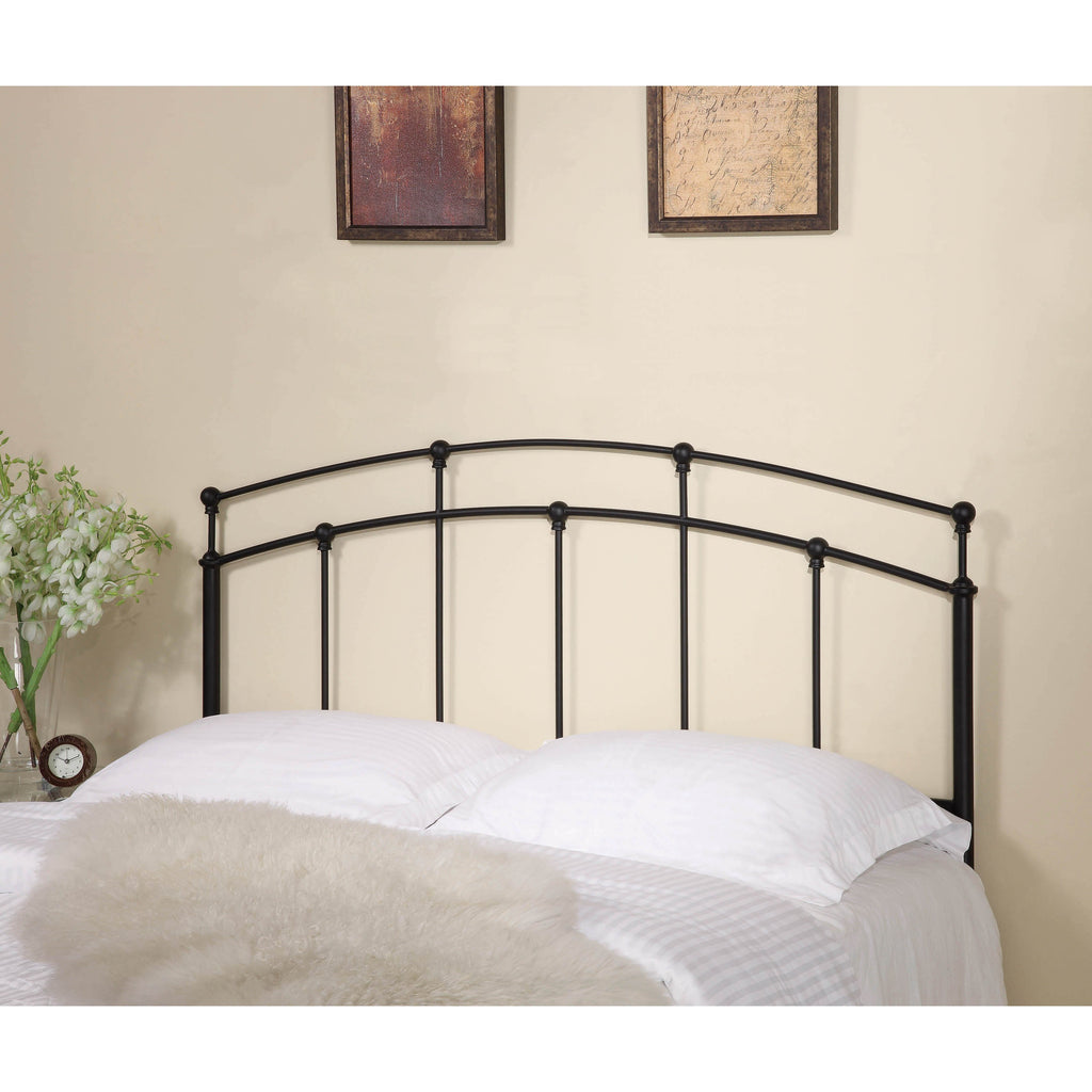more photos 944e5 fc97f Coaster Traditional Black Metal Headboard With Spindles