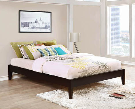 Coaster Hounslow Cappuccino Platform Bed-Coaster-Sleeping Giant