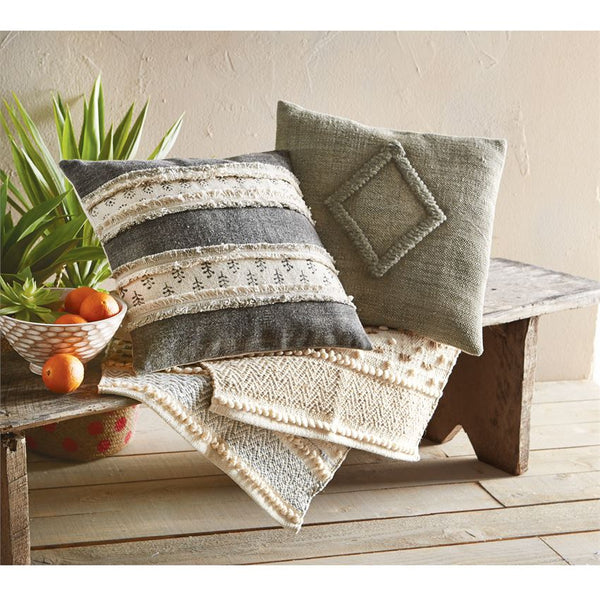 Mud Pie Dhurrie Pillows-MUD PIE-Sleeping Giant