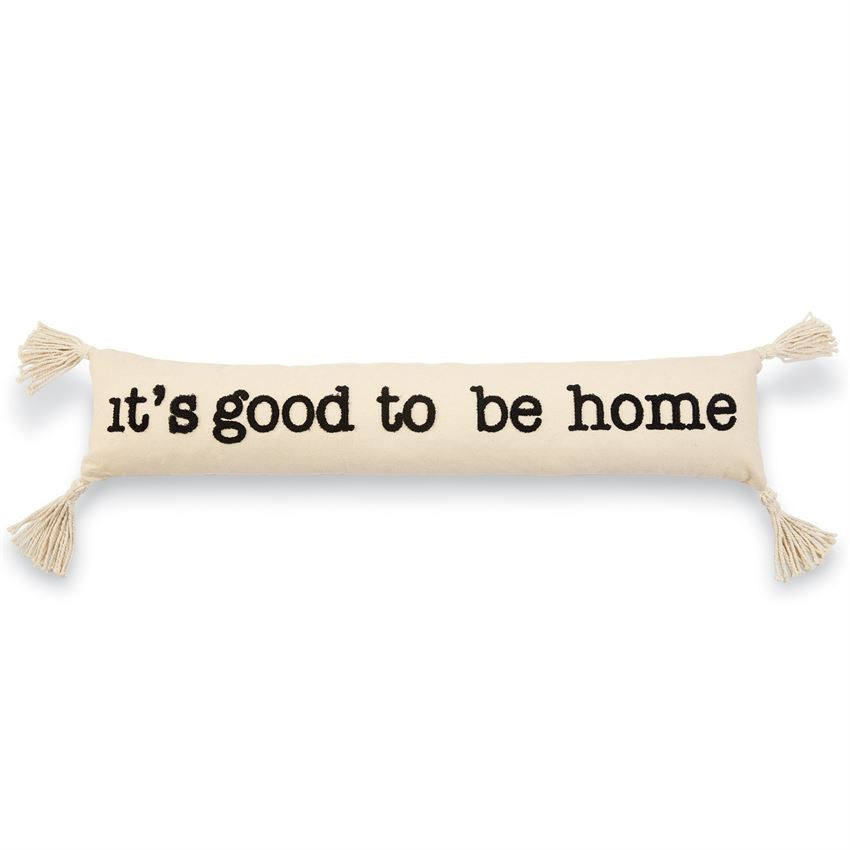 7 x 35 White Mud Pie Welcome Home Skinny Pillow