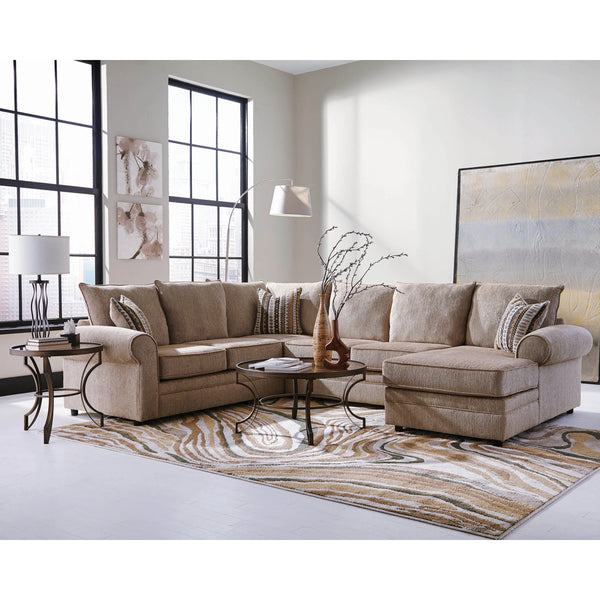 Coaster Fairhaven Transitional Cream Herringbone Sectional-Coaster-Sleeping Giant