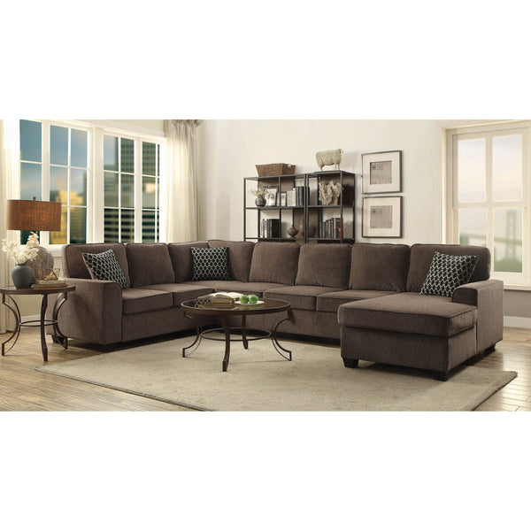 Coaster Provence Transitional Brown Sectional-Coaster-Sleeping Giant