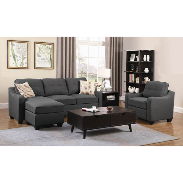 Coaster Nicolette Dark Grey Sectional Collection-Coaster-Sleeping Giant
