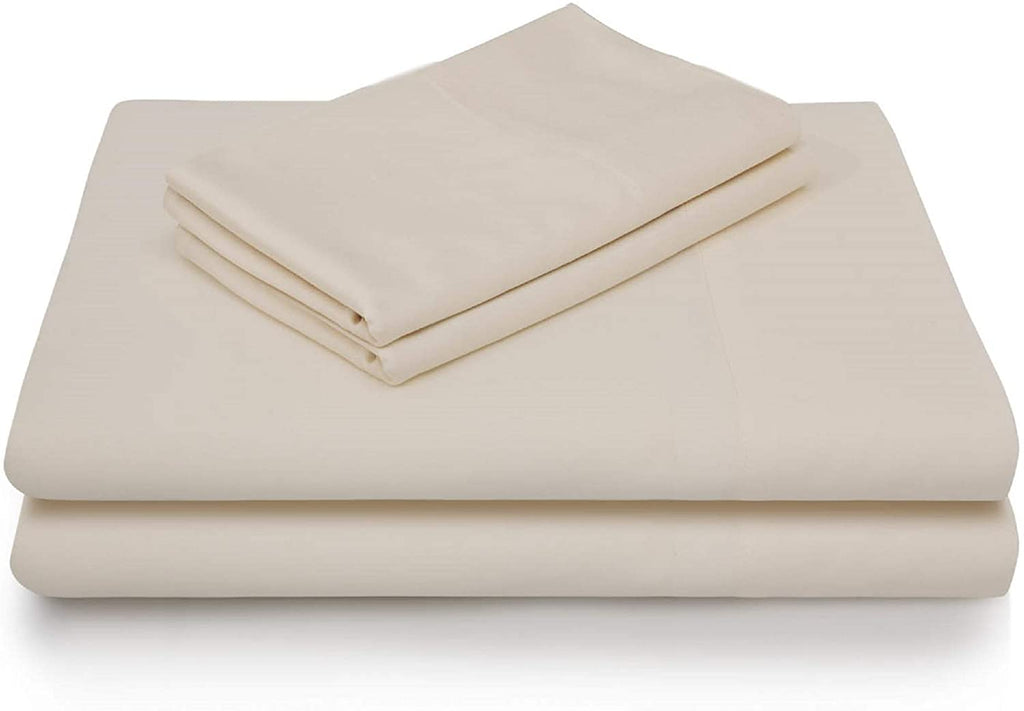 Malouf Rayon From Bamboo Ivory Pillowcase-Malouf-Sleeping Giant