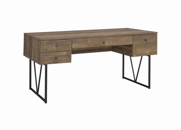 Coaster Analiese 4-Drawer Writing Desk Rustic Oak-Coaster-Sleeping Giant