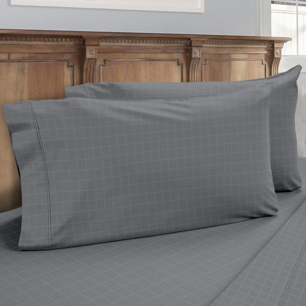DreamFit 6° Gray Enhanced Eucalyptus Cotton Pillowcase-Hometex-Sleeping Giant
