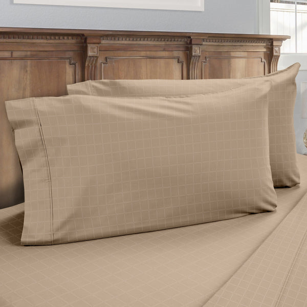 DreamFit 6° Tan Enhanced Eucalyptus Cotton Pillowcase-Hometex-Sleeping Giant