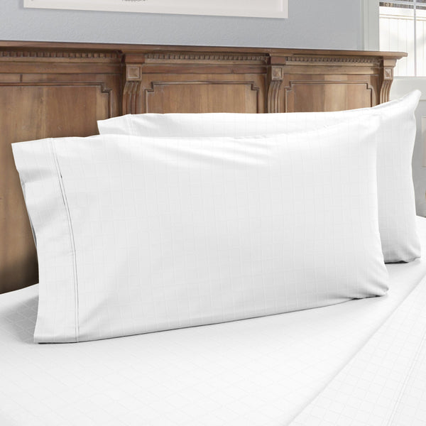 DreamFit 6° White Enhanced Eucalyptus Cotton Pillowcase-Hometex-Sleeping Giant