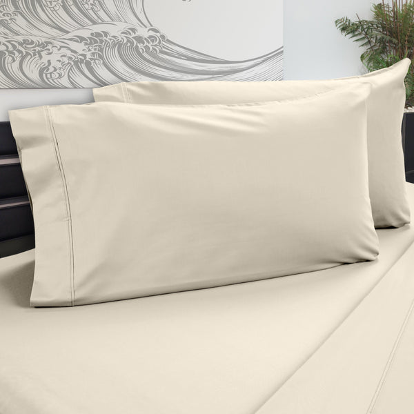 DreamFit 5° Ecru Bamboo Pillowcase-Hometex-Sleeping Giant