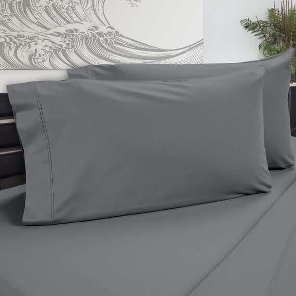 DreamFit 5° Gray Bamboo Pillowcase-Hometex-Sleeping Giant