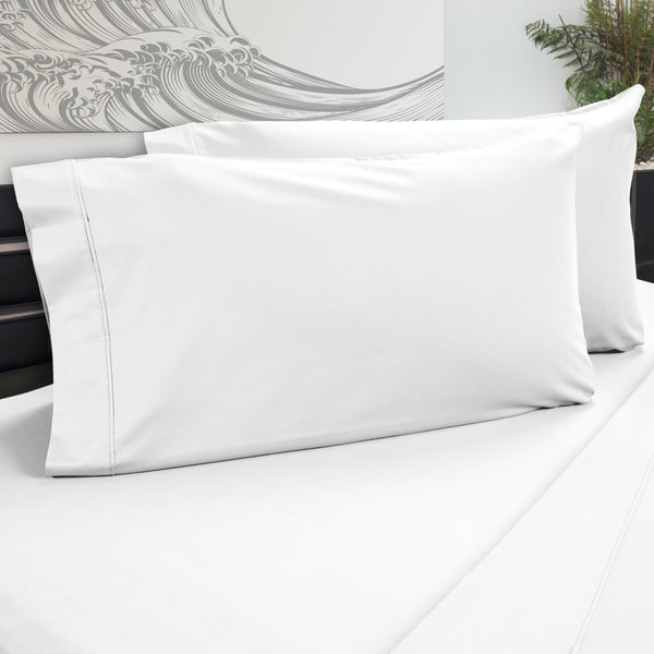 DreamFit 5° White Bamboo Pillowcase-Hometex-Sleeping Giant